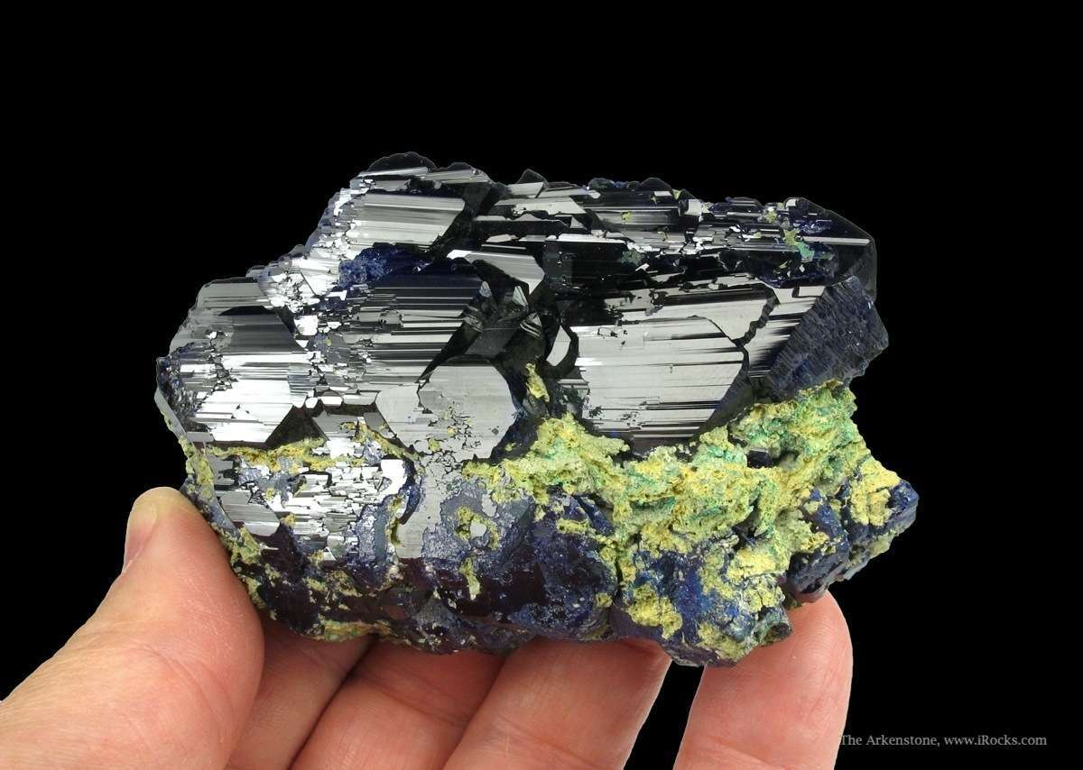 A difficult obtain specimen superbly lustrous deep blue Azurite