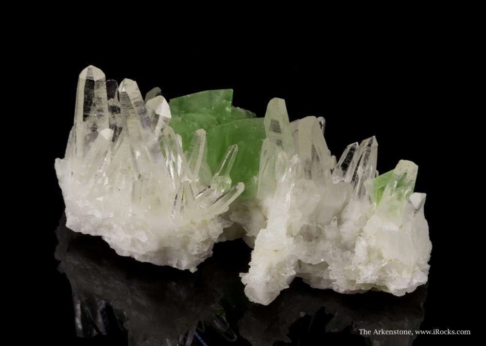 A sharp specimen intensely colored crystals Nestled beautifully