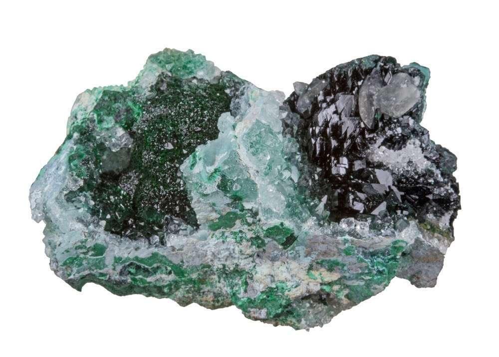 Malachite infused quartz separates botryoid drusy rich green malachite
