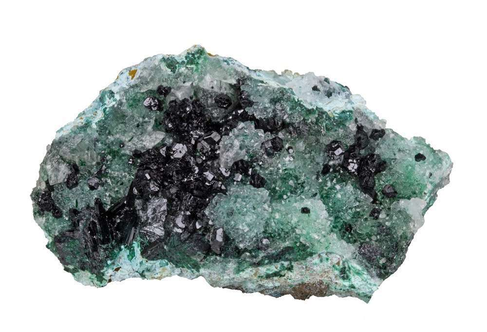 A gorgeous large display piece sparkling vugs chrysocolla infused