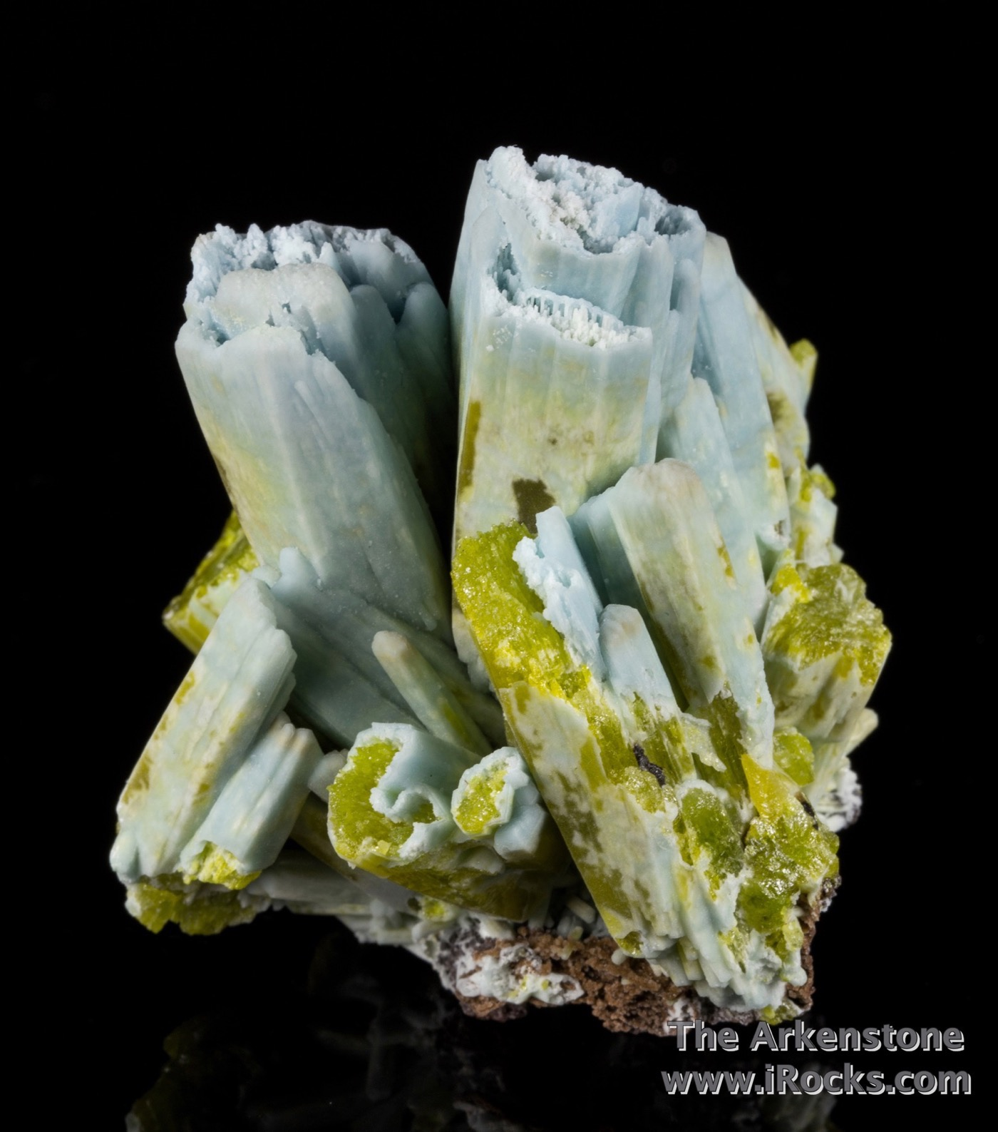 A robust specimen complete big fat crystals showing excellent color