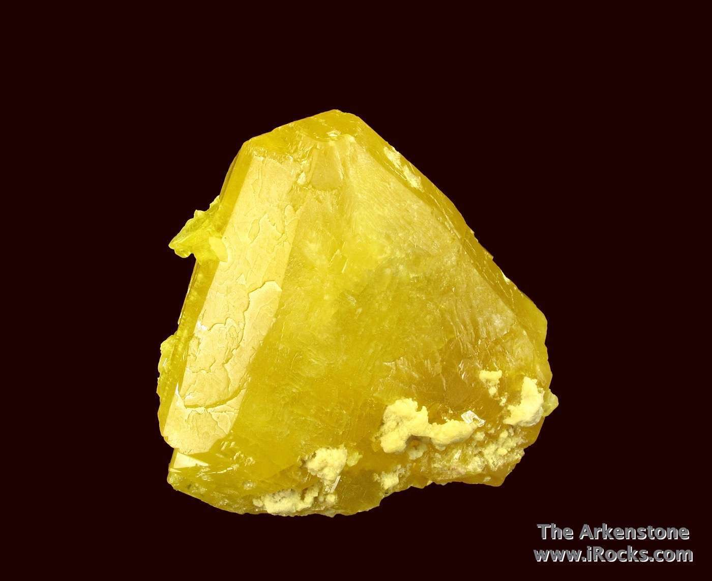 This attractive exceptionally large single crystal Sulfur uncommon
