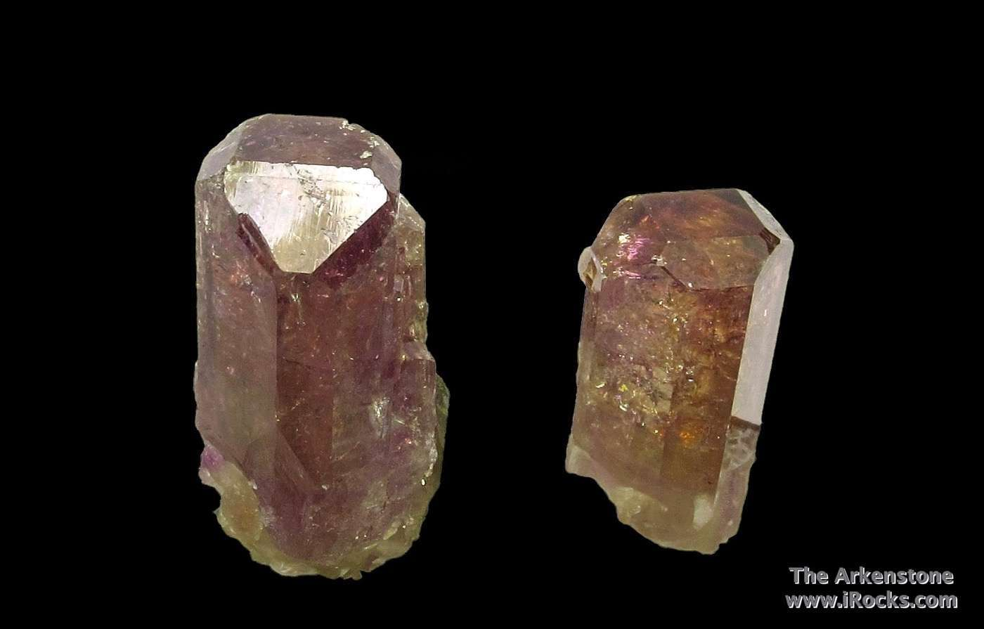 This good pair Vesuvianite crystals quite famous closed Jeffrey Mine