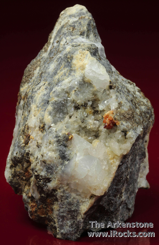 Visible gold classic local A dolomitic matrix pyrrhotite arsenopyrite