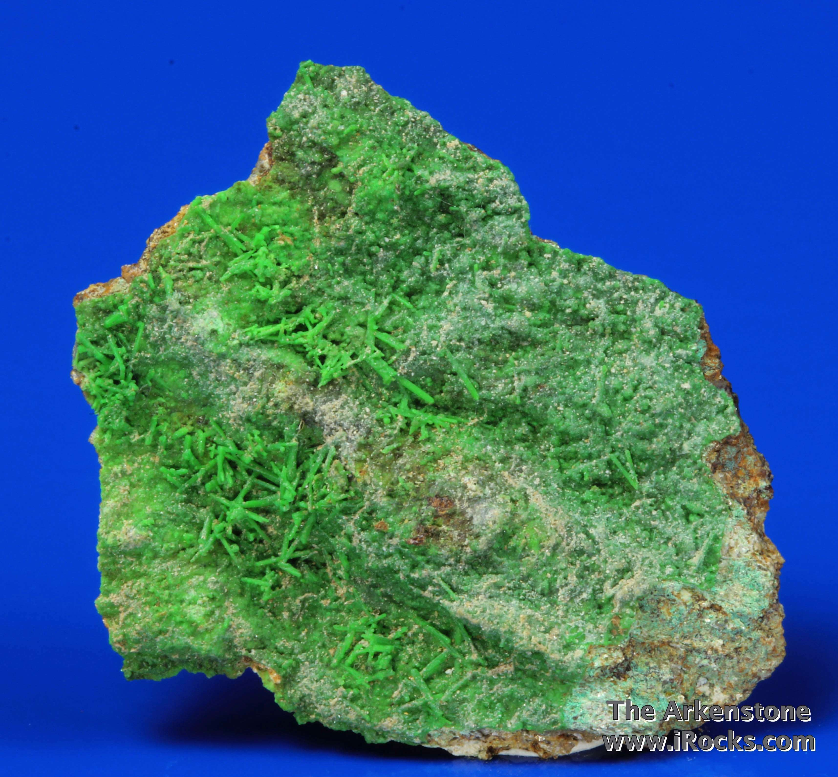 A good miniature specimen type locality Vibrant green formed acicular