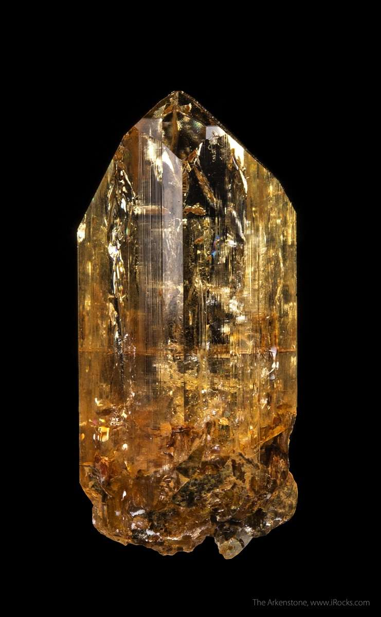 First rate splendid orange amber Imperial Topaz Karengerenge village