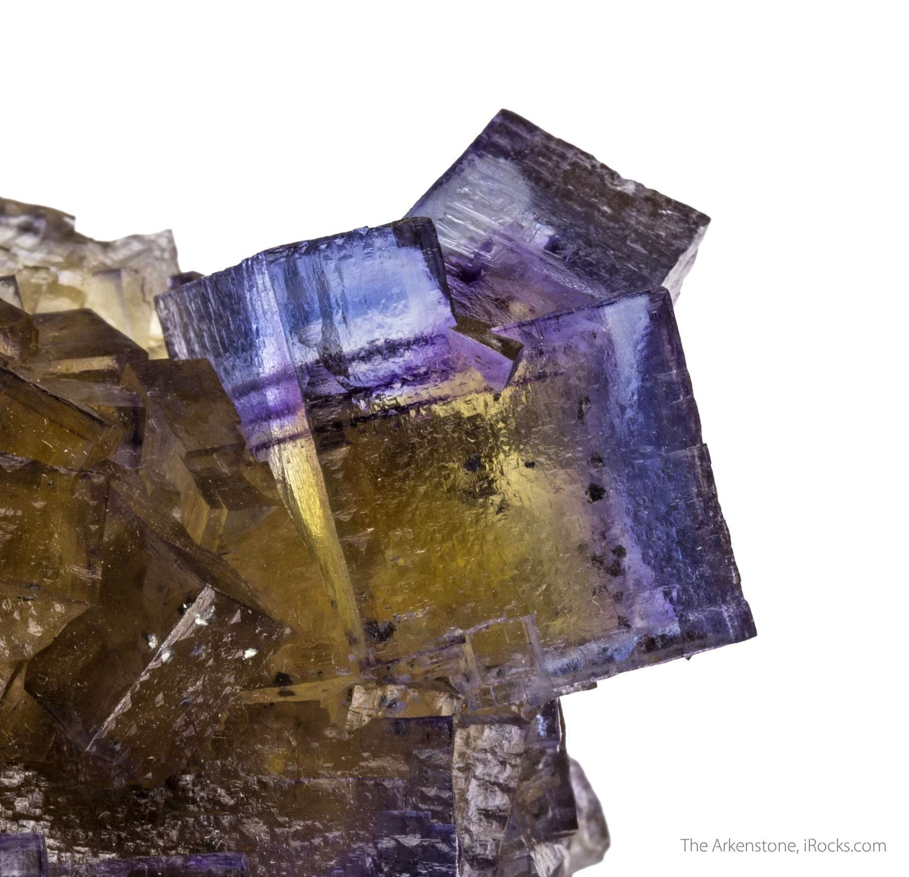 This fine fluorite specimen highlighted rare penetration twinning