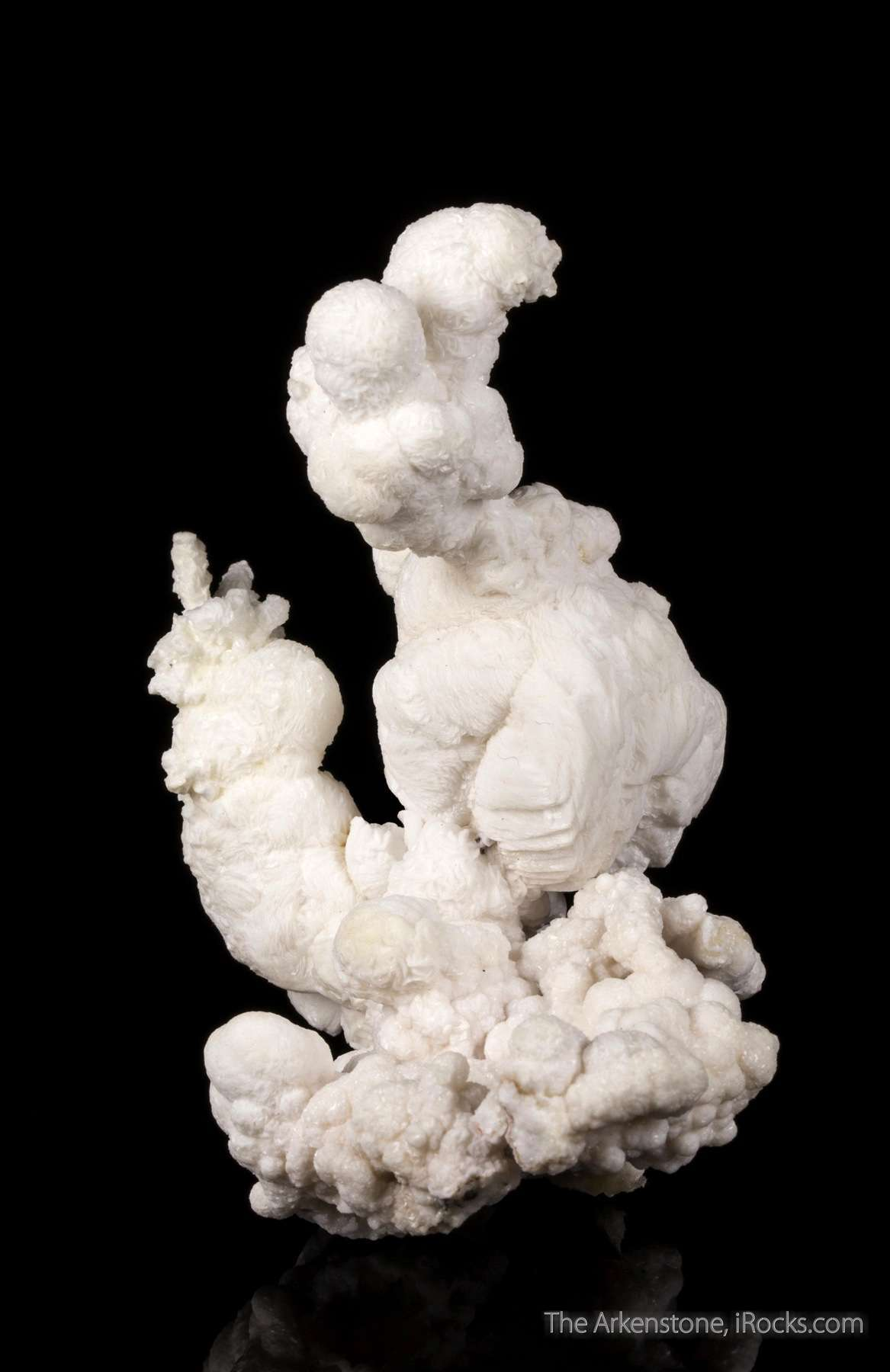 This freeform specimen botryoidal white barite closely resembles flos