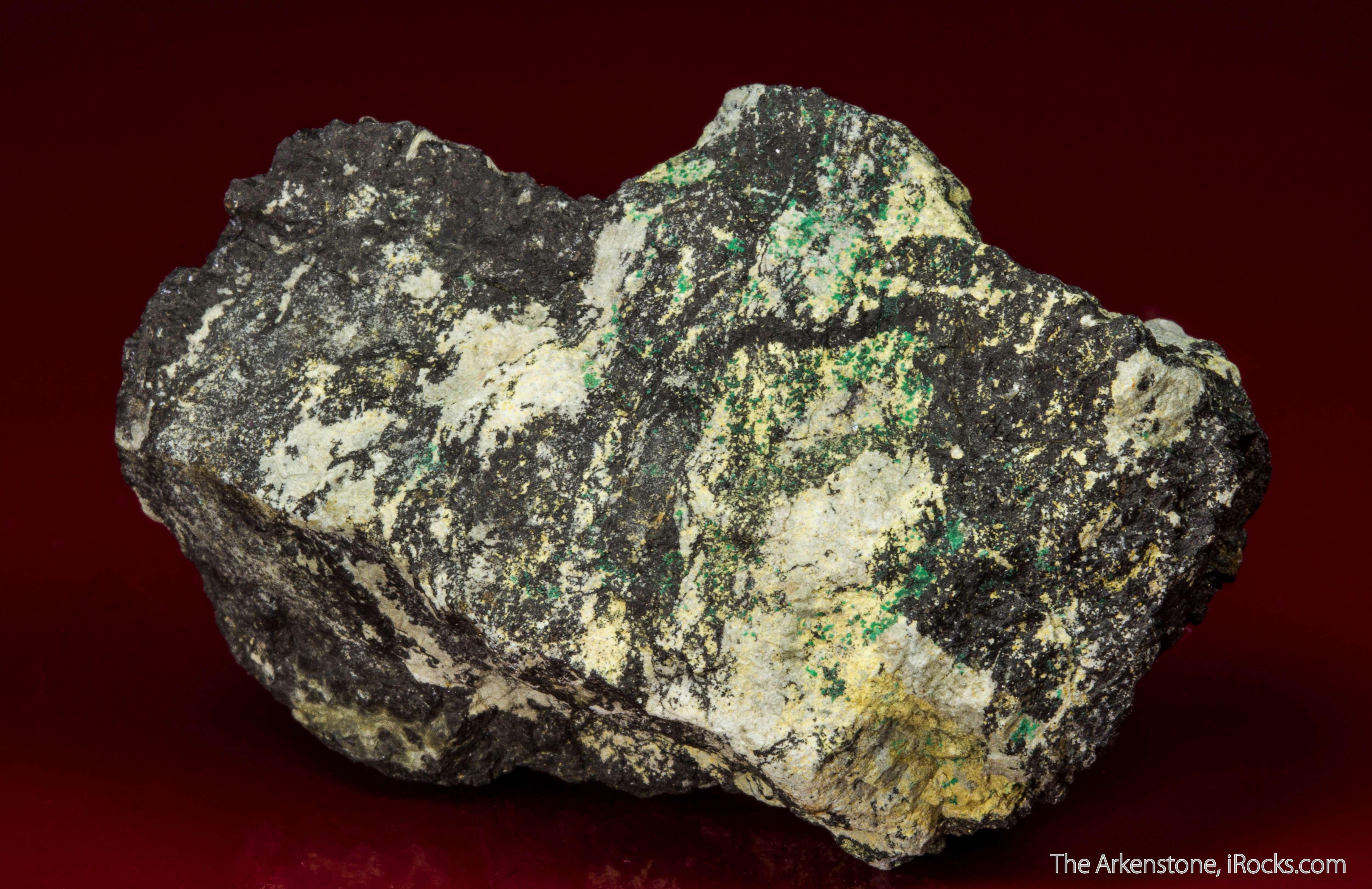 Fantastic combination specimen historic Bastnas ore field Pale yellow