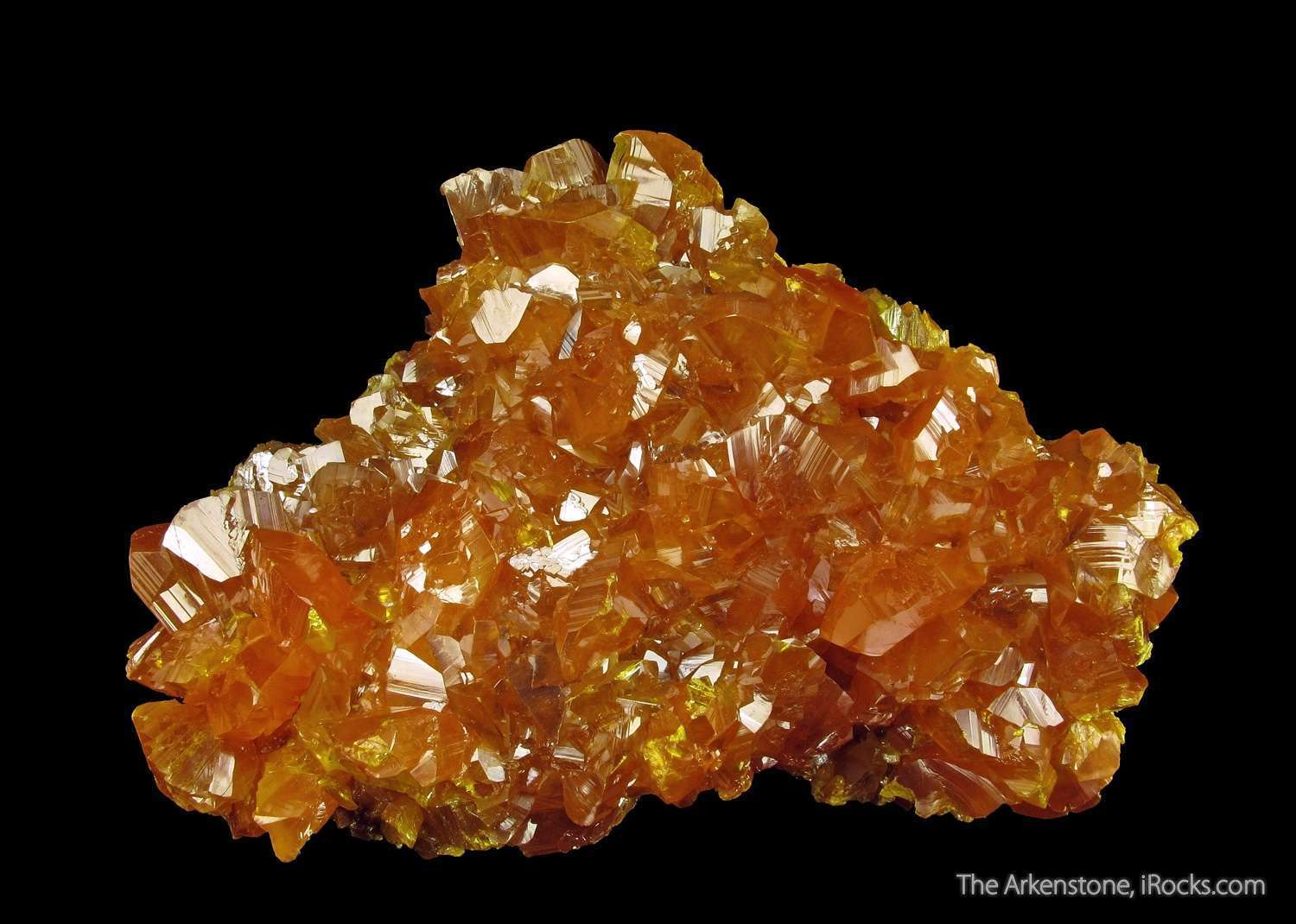 A VERY attractive Orpiment specimen Twin Creeks Mine Nevada color