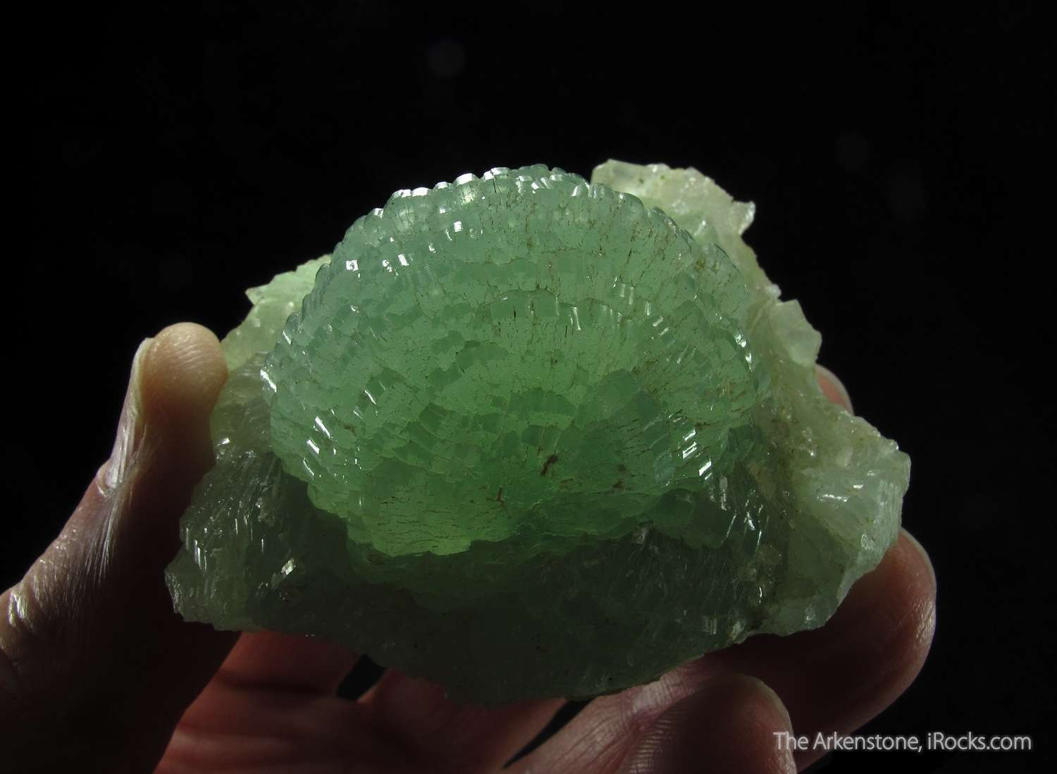 You normally think Prehnite class mineral specimen crystals don t