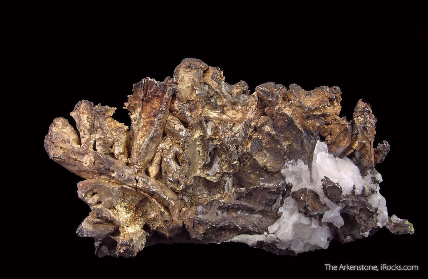A crystallized aesthetic curvaceous Silver specimen famous Copper