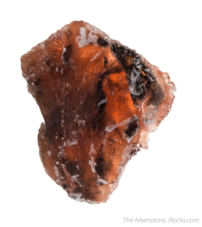 A single large triplite crystal shows like red windowpane fully