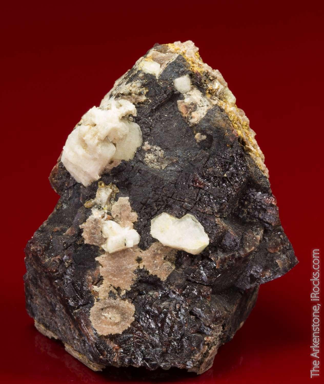 Large reddish brown opaque formed crystal genthelvite 3 6cm