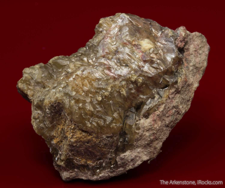 Rich specimen composed large formed complex crystals calomel