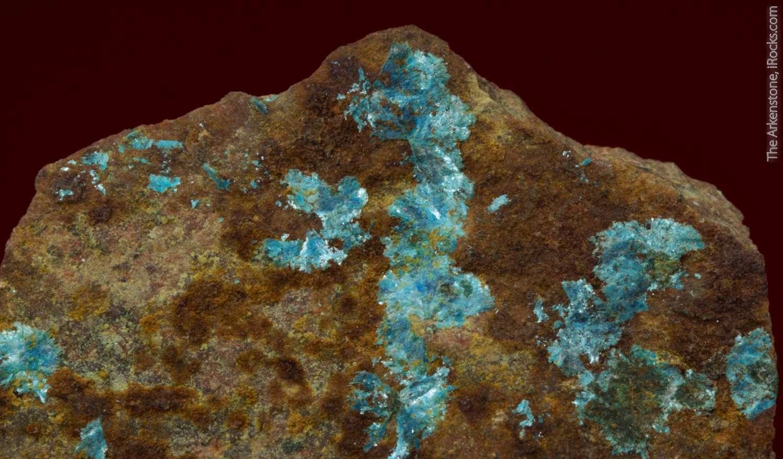 Brilliant pearly blue radiating lamellar sprays sampleite 8mm
