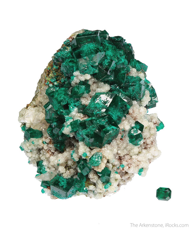 4 5 x 4 2 x 4 0 cm Specimen 0 65 carats 4 75 mm x 4 17 mm Gem Dioptase