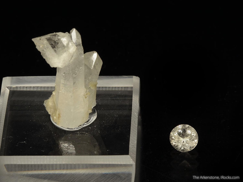 2 1 x 1 3 x 0 8 cm Specimen 0 95 carats 6 19 mm Gem Augelite known