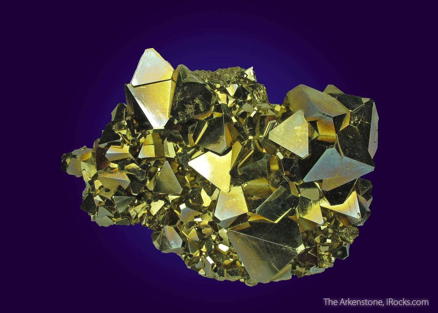 An absolute knockout piece Pyrite octahedrons stellar Sharp lustrous
