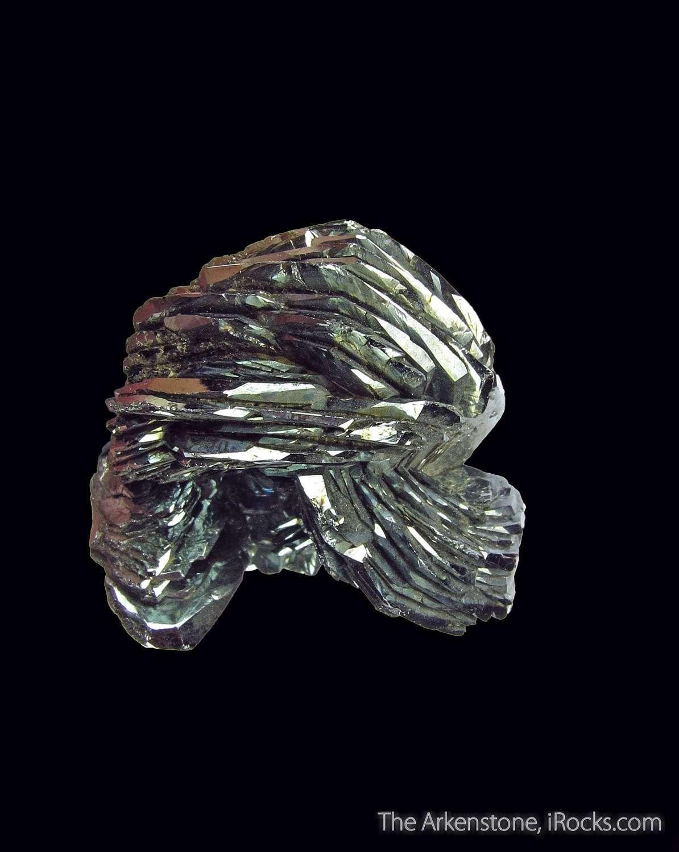 This classic alpine eisenrose bright silver metallic lustrous Hematite
