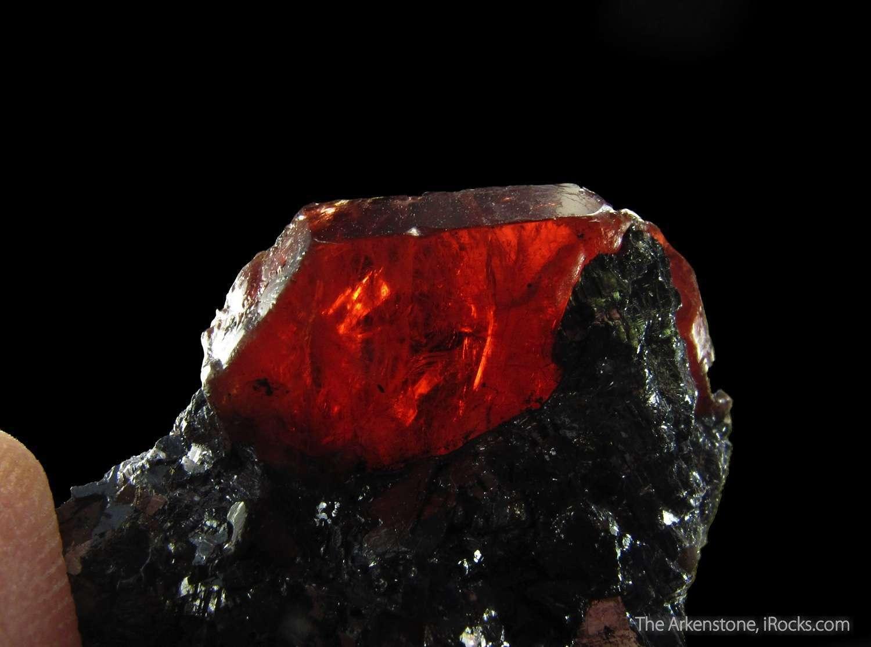 VERY GEMMY lustrous deep cherry red Rhodonite crystal crystalline