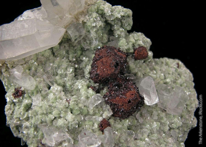 An epimorph specimen Hubnerite Scheelite famed Mundo Nuevo Mine Peru