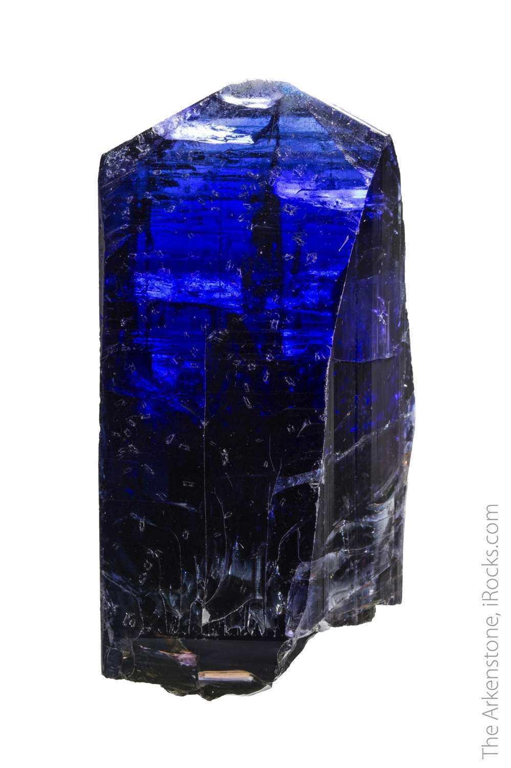 This massive tanzanite crystal measures 10 cm tall weighs pound 388