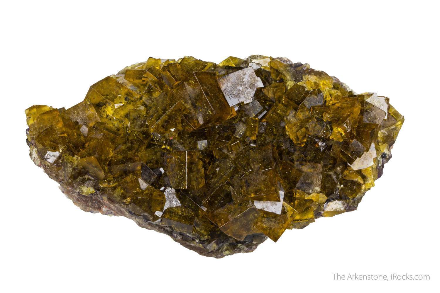 From small old silver district larger specimens recovered deep yellow