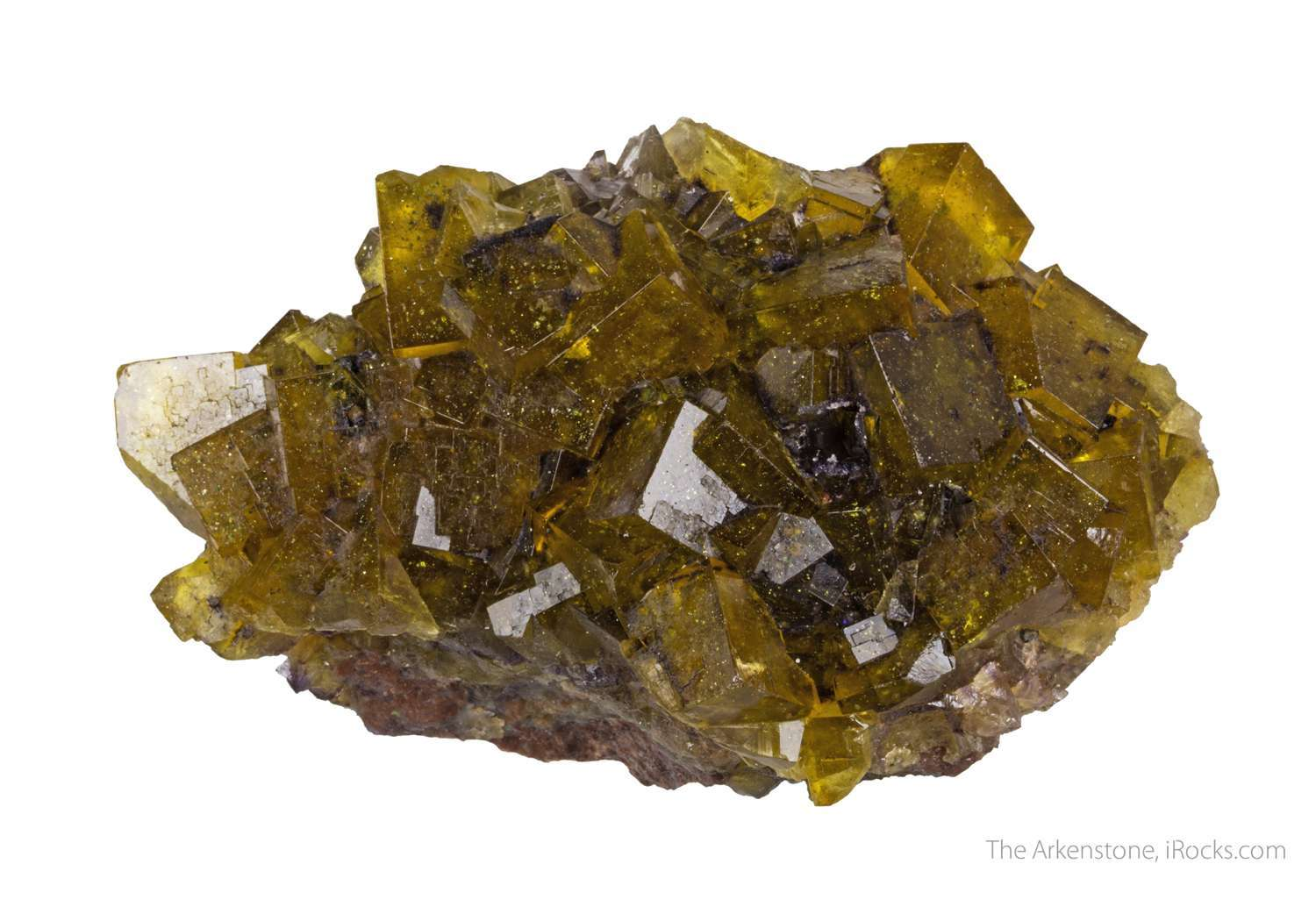 A rich plate honey yellow crystals small recent old silver mining town