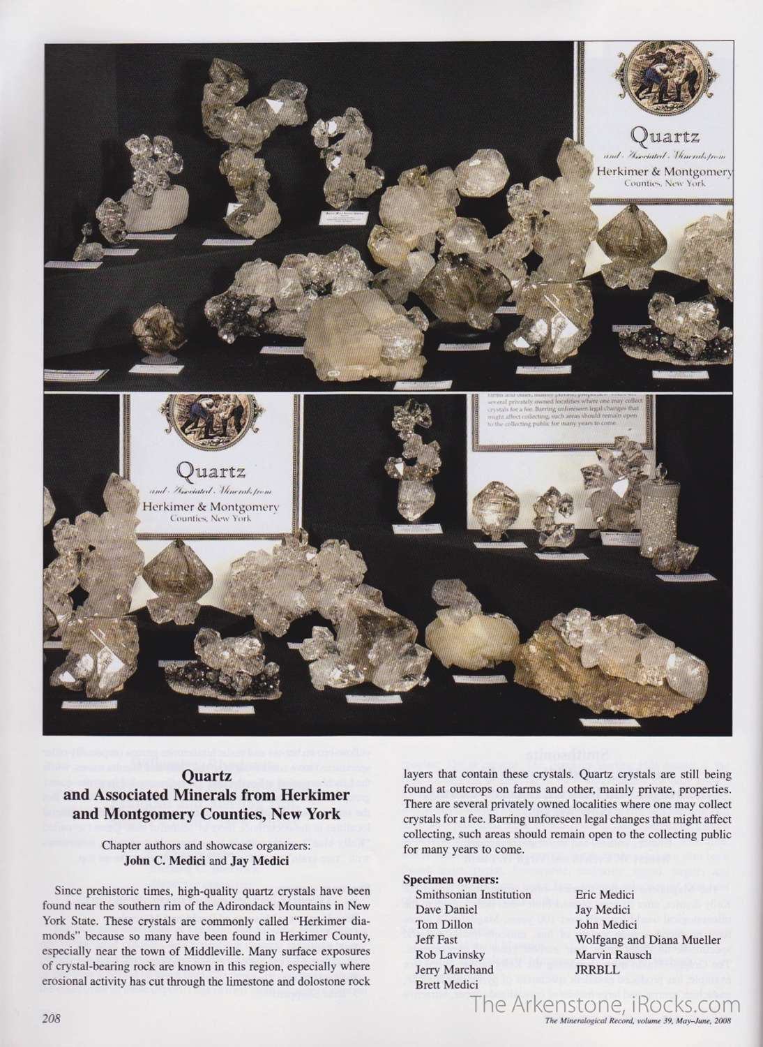 Quartz Herkimer county special place hearts collectors especially thos