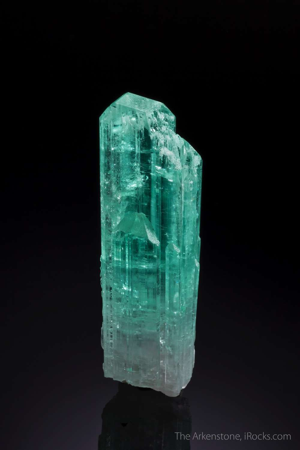 This specially colored crystal unique green blue color extremely