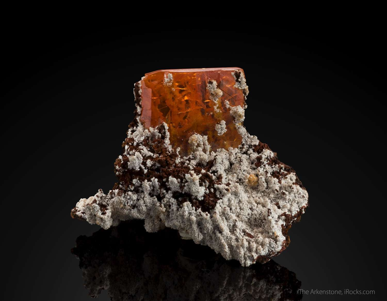 A windowpane classic A sharp gemmy 3 x 2 x 0 5 mm crystal perched