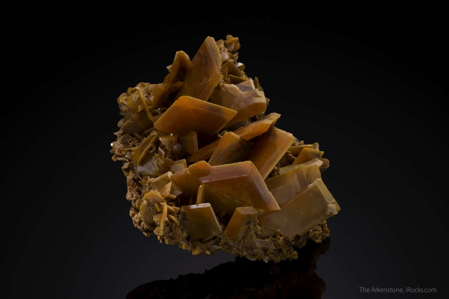 An old robust wulfenite important Moroccan lead unusually fine