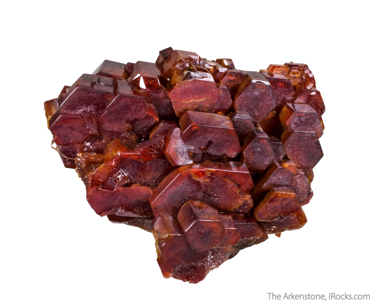 This unusual vanadinite specimen features robust crystals 2 2 cm