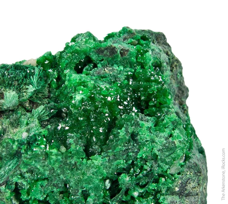 A rich specimen dark emerald green arsentsumebite type locality A