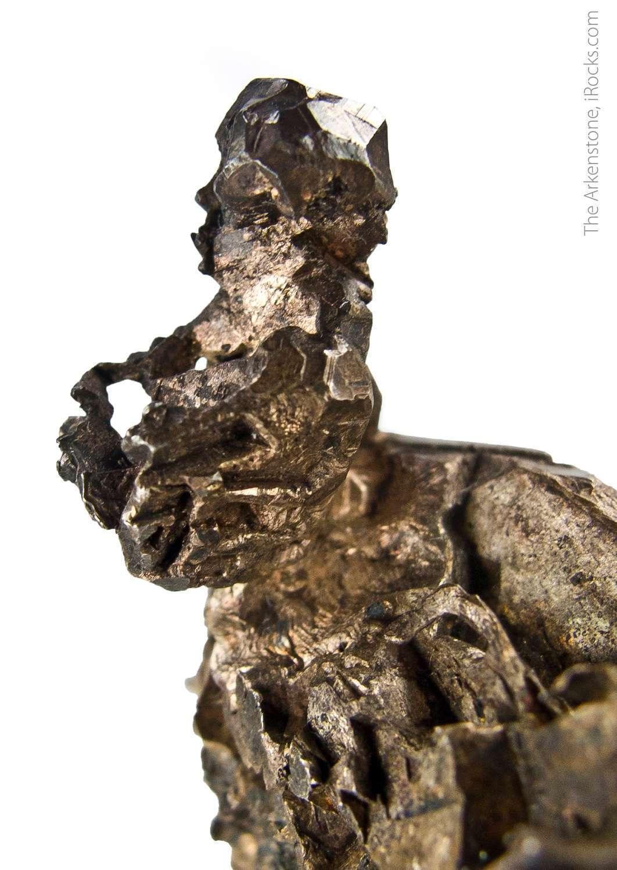 A sculptural native silver specimen Kongsberg Norway displaying