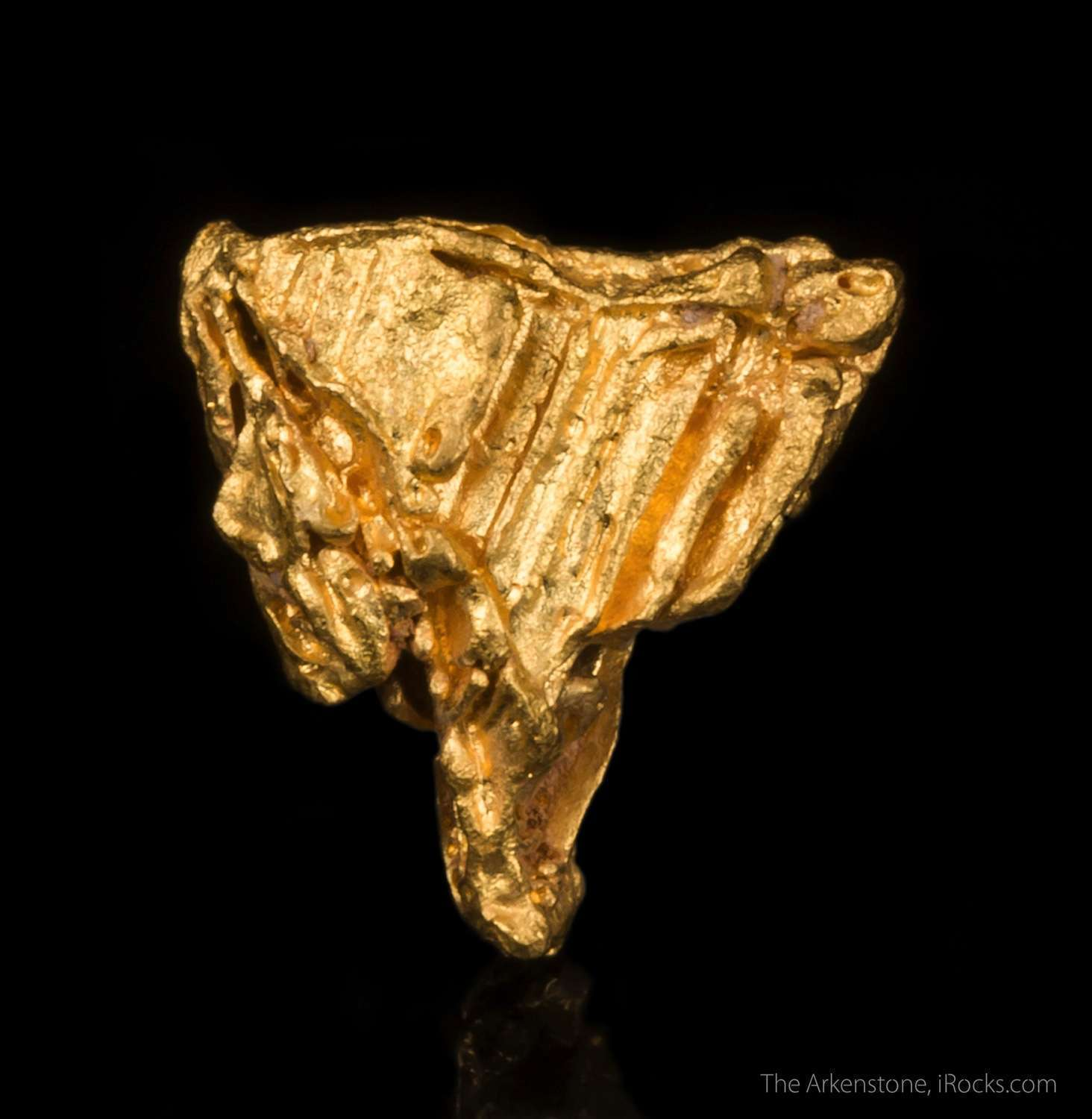 crude crystallized classic gold nugget irocks fine minerals
