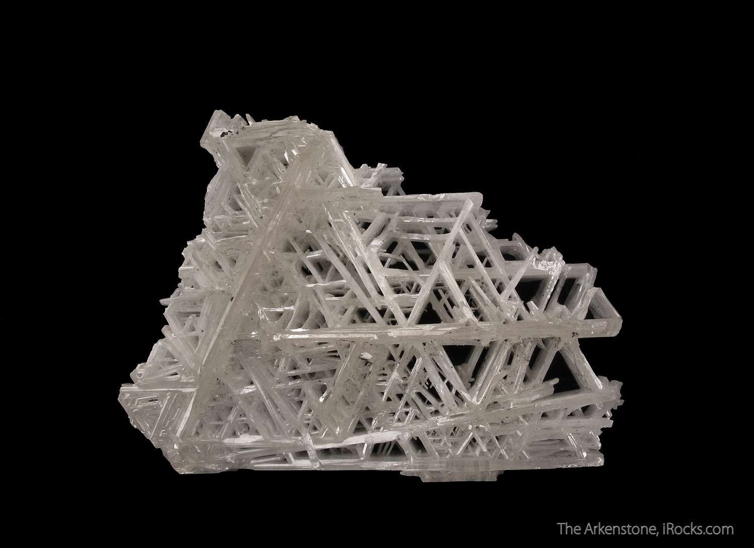Superb example classic reticulated snowflake habit Cerussite The