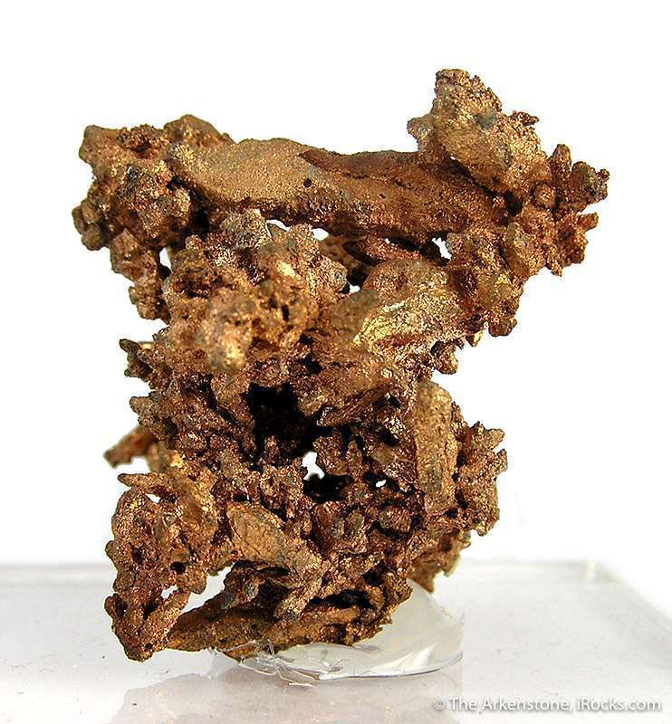 This specimen complex copper crystals highlighted bright metallic