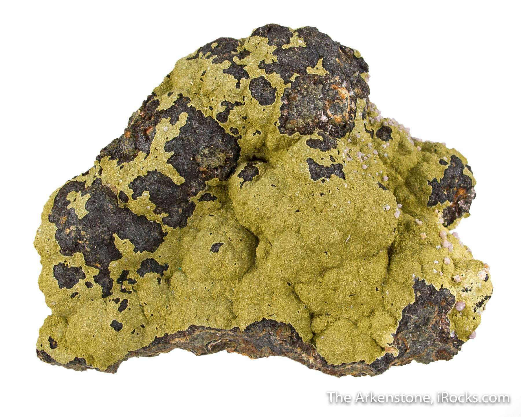 A mounded surface beraunite possibly dufrenite rockbridgeite covered