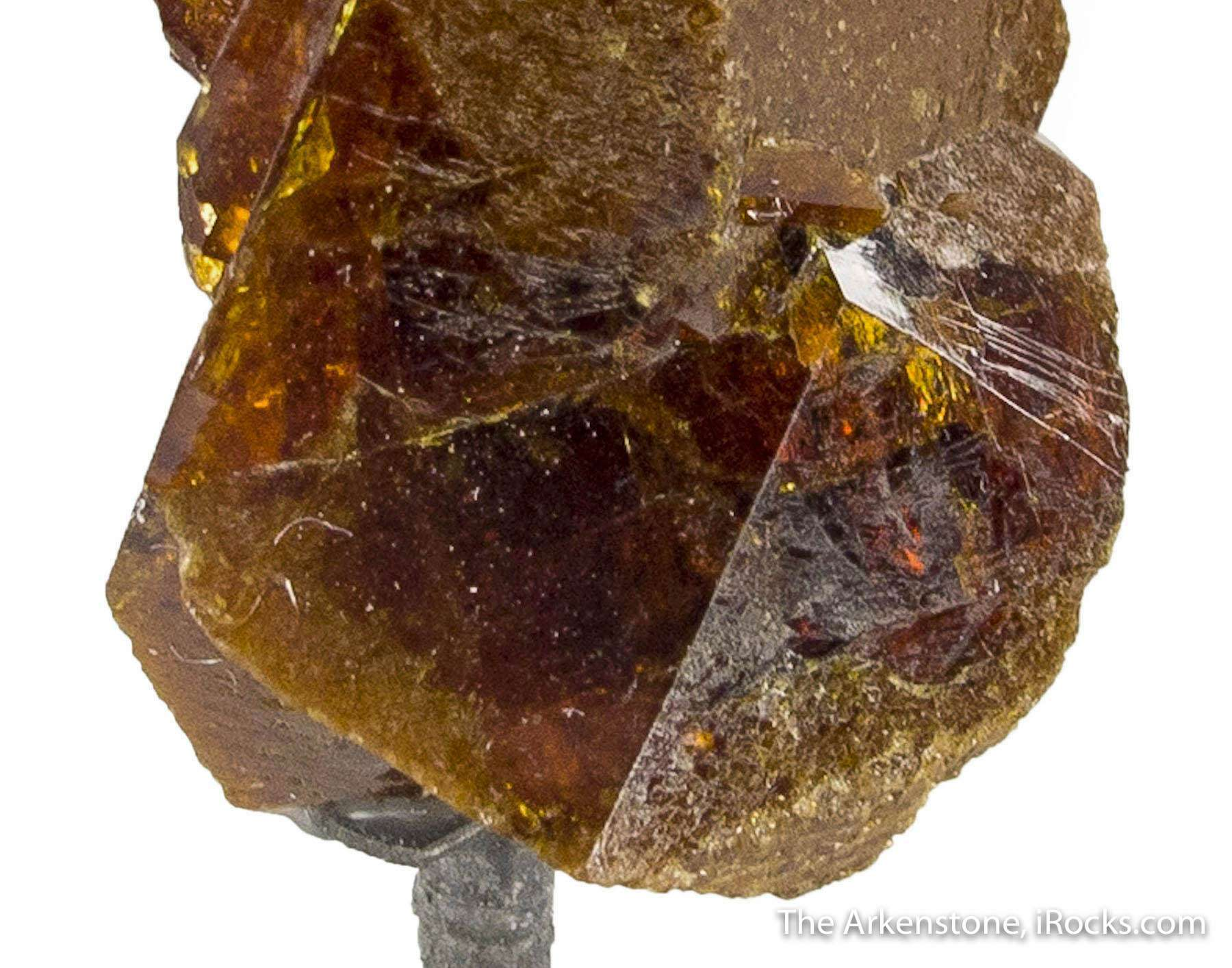 An exceptionally large formed beautiful twinned monazite crystal