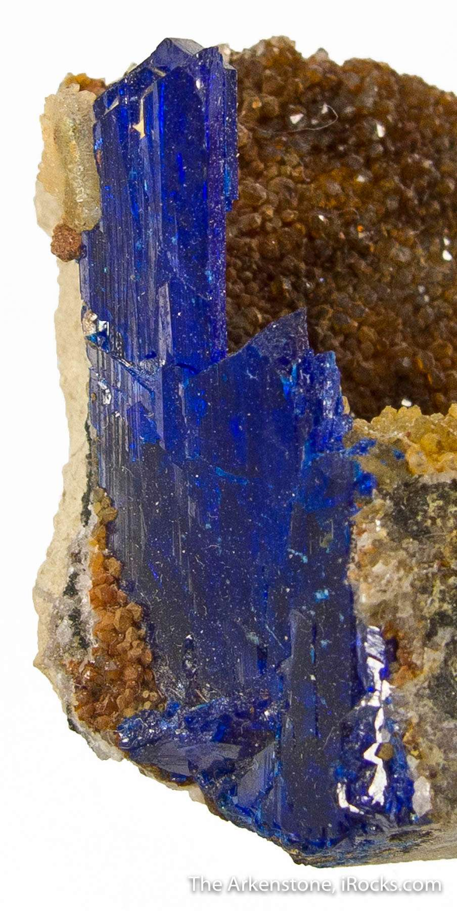 A large showy lustrous electric blue linarite crystal best Arizona
