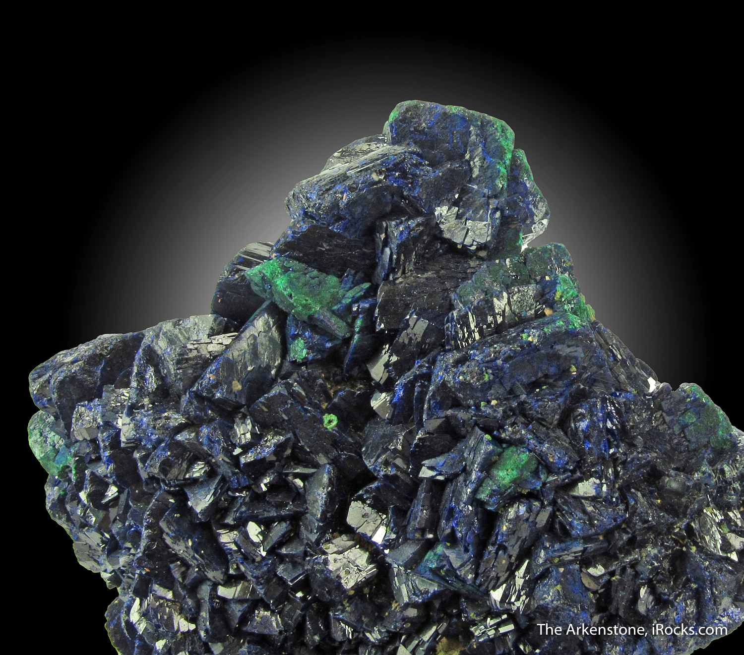 An excellent showy old time Chessy specimen composed lustrous Azurite