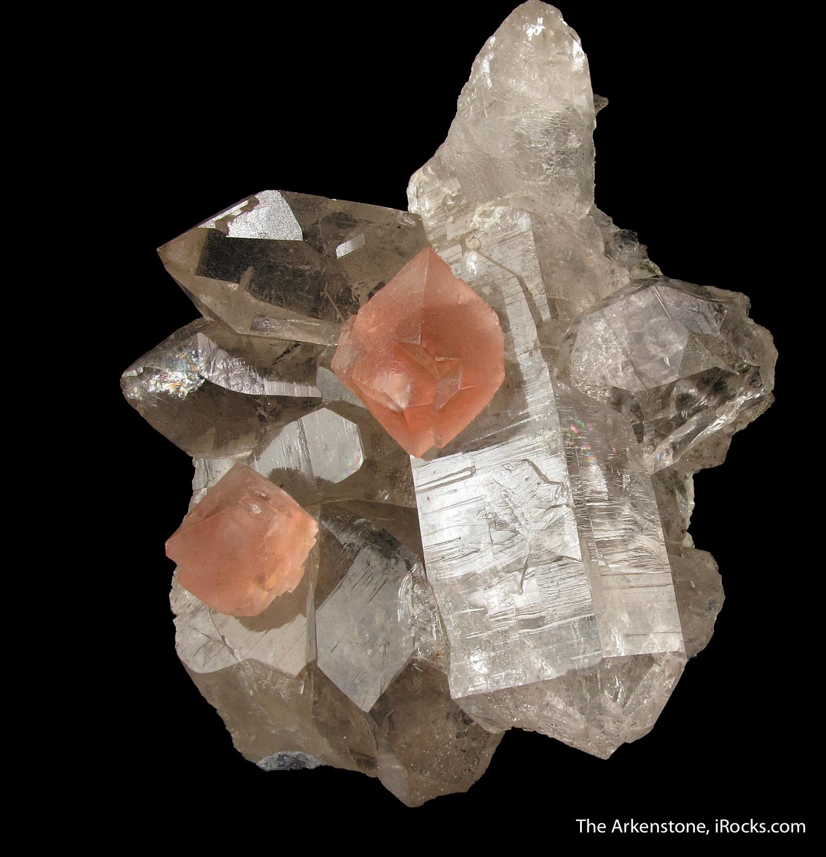 Pink Fluorite on Quartz - OB16A-12 - Goschenen Valley ... Minerals