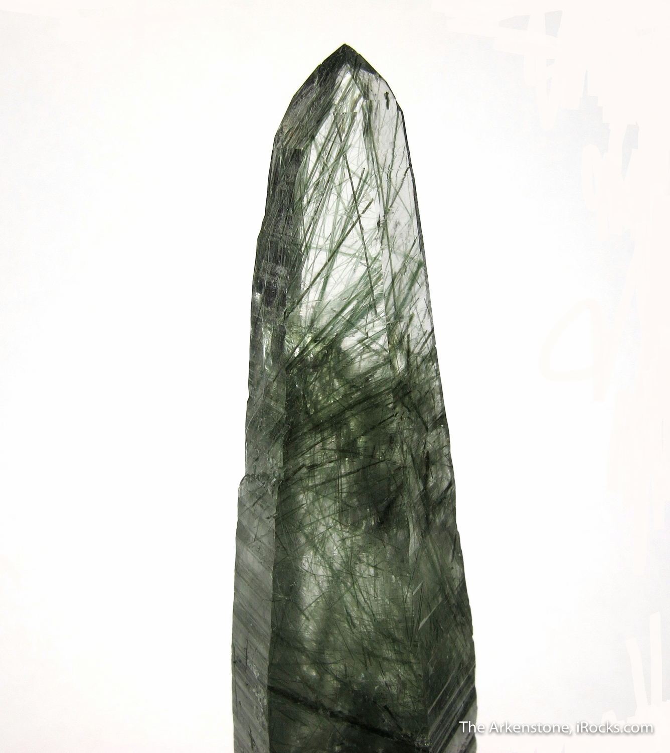 Large single crystal Quartz richly included slender needles Actinolite