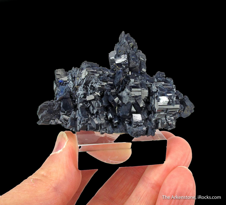 Large complex cluster lustrous deep blue Azurites famous Tsumeb Mine