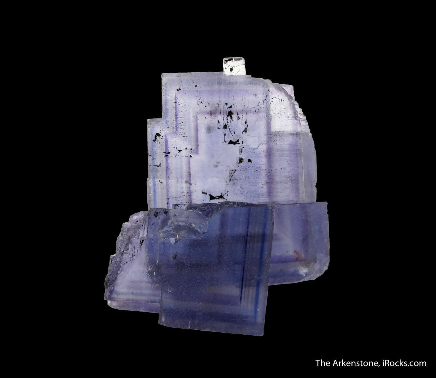 Exceptional L shaped Fluorite crystal intergrown Fluorite forms