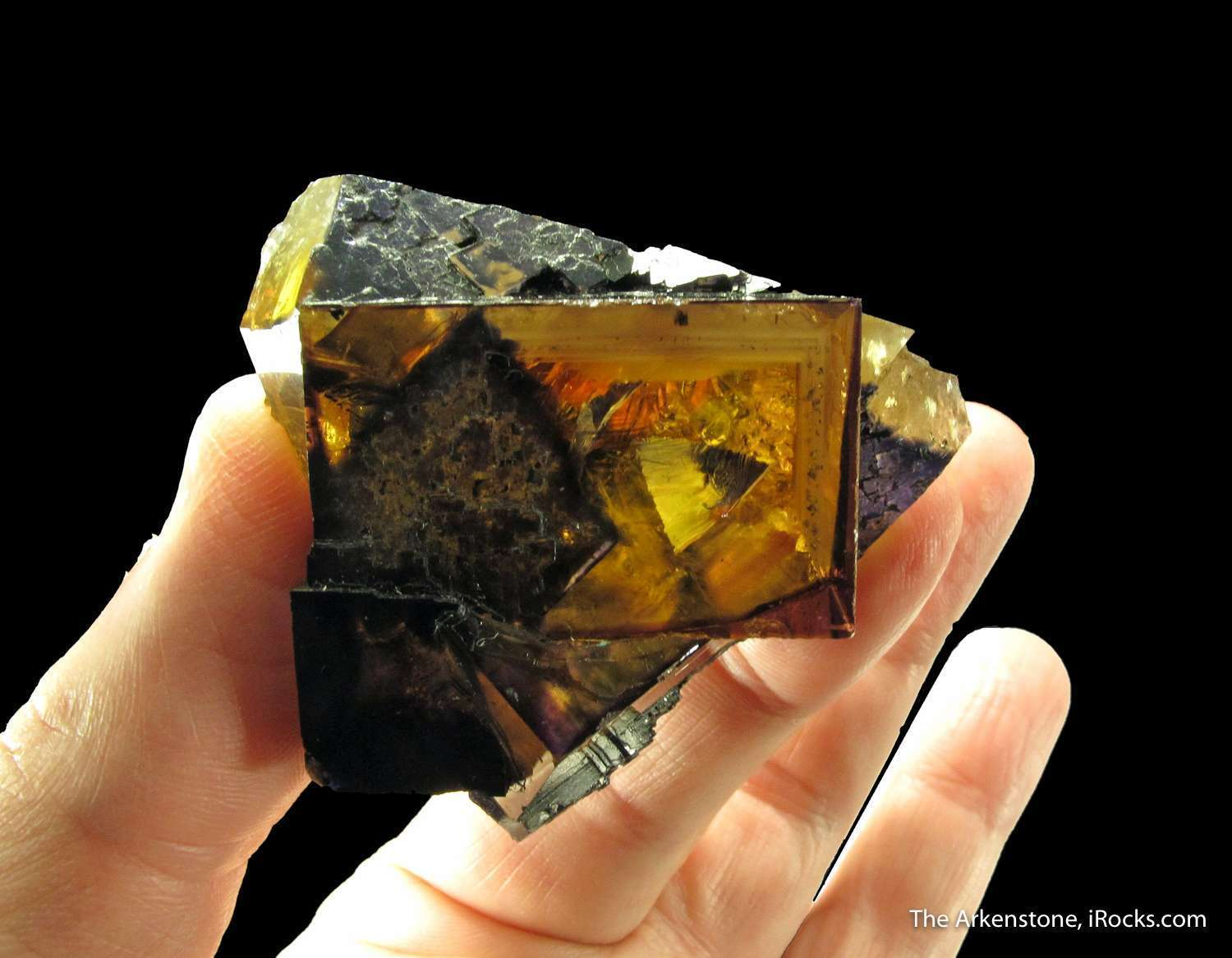 Outstanding amber colored Fluorite crystals Denton Mine southern