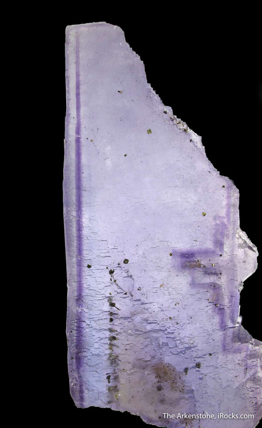 Exceptional UNIQUE elongated Fluorite crystal complete crystallized