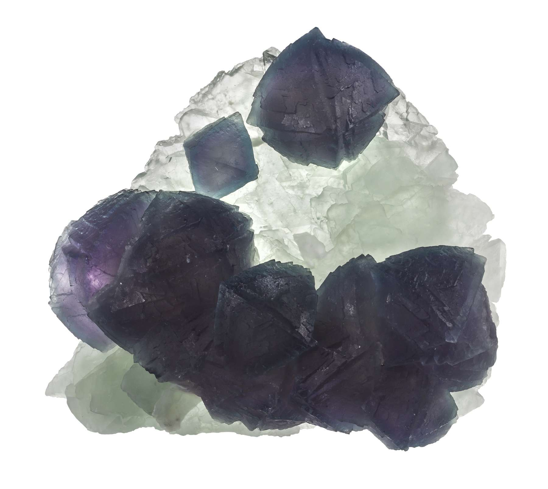 Fluorite fluorite showing contrast color form simply unexpected old